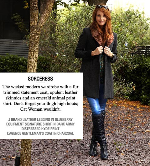 donna ida, london fashion, london style, halloween, j brand, what to wear, lagence gentlemens coat, equipment