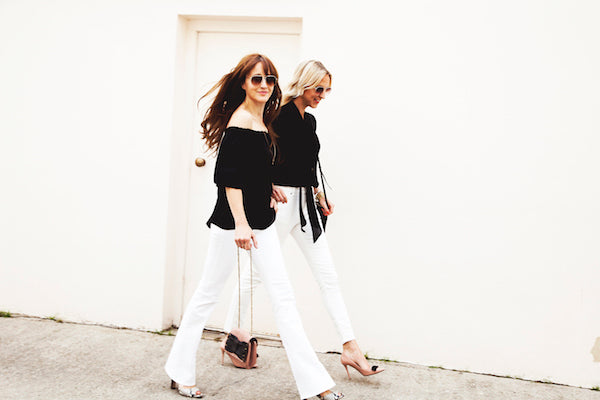 Belle and Bounty wear DONNA IDA Blouses and IDA Rizzo Jeans in Milk IMG_8540ss