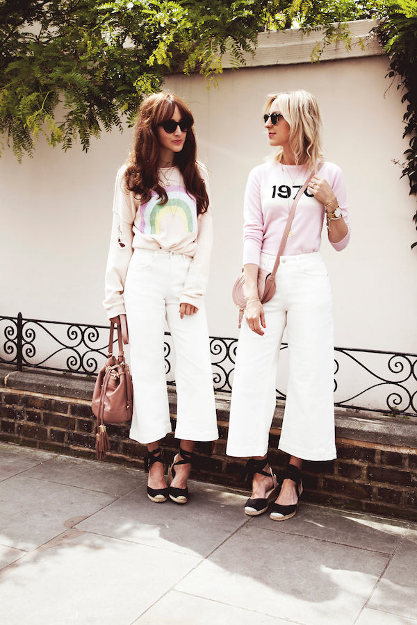 Belle and Bounty wear IDA Margot Denim Cullotes in Milk White IMG_8685ss