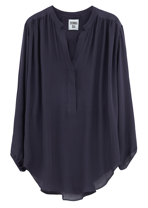 DONNA IDA Poet Dont Know It Blouse in Hello Sailor 210GBP donnaida.com