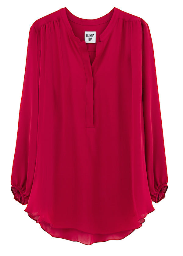 DONNA IDA Poet Dont Know It Blouse in Rougey Red 210GBP donnaida.com