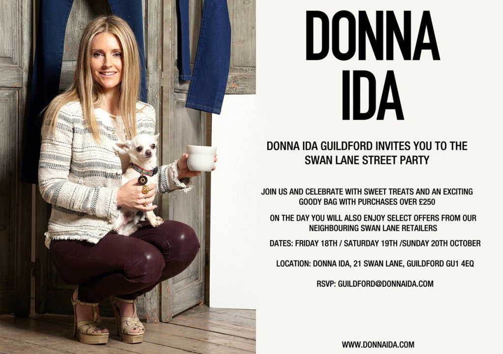 donna ida, london fashion, london style, guilford, street party, invitation