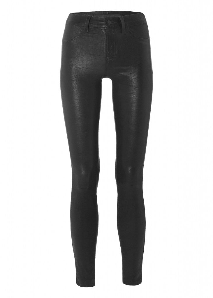 Donna Ida J Brand 801 Leather Noir £875, black jeans, work jeans, skinny jeans, denim, smart jeans, fashion, London