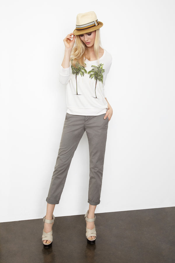 Donna Ida, J Brand Alex Chino Tarmac, Wilfox Twin Palms Jersey, donnaida.com, denim, jeans, cropped, spring summer, 2015, outfit, London, fashion, style