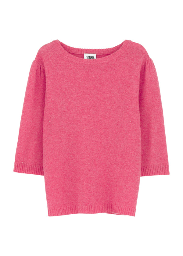 DONNA IDA Bonnie 3/4 Sleeve Knit in Raspberry Crush £195