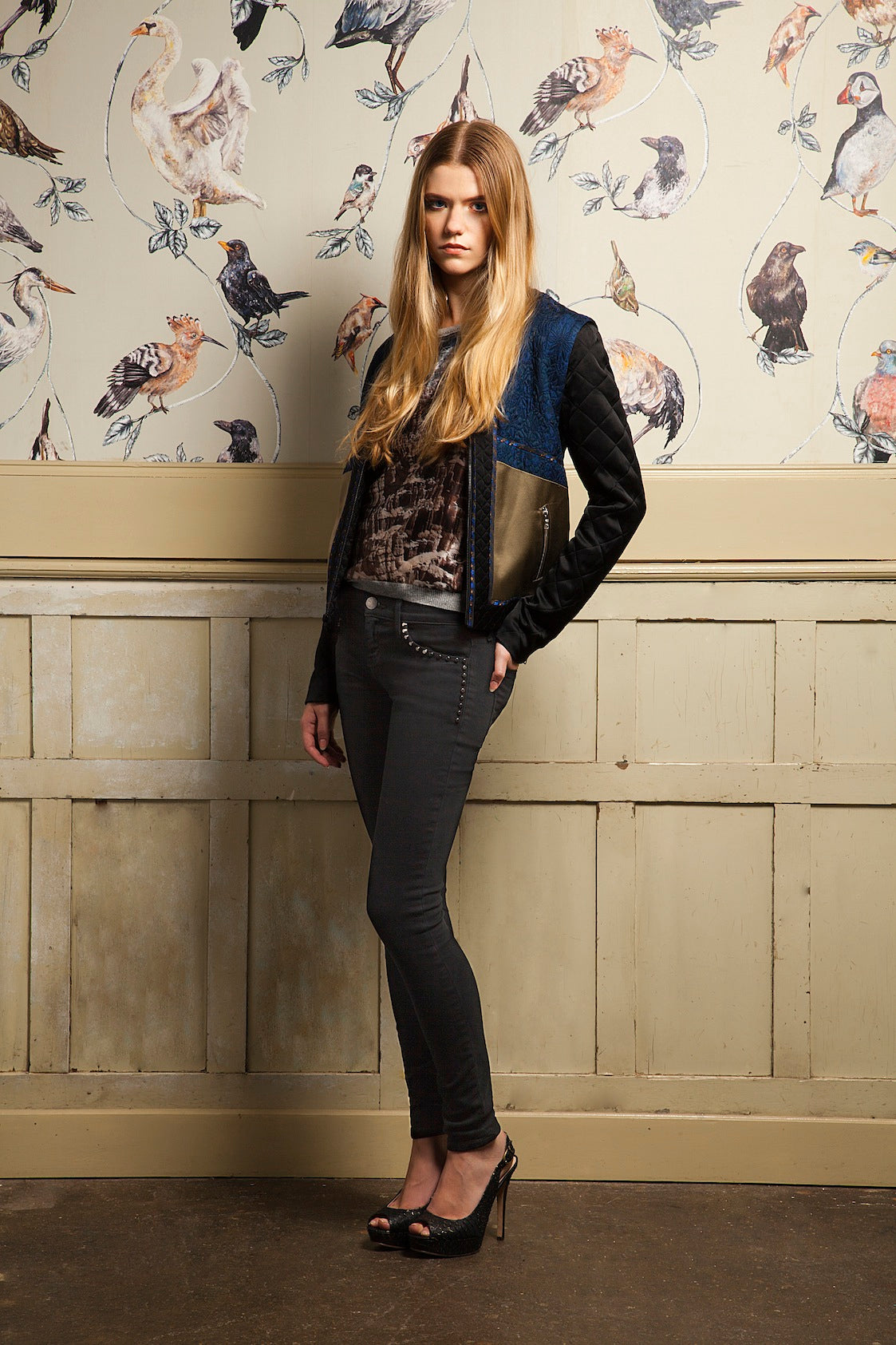 Donna ida, london fashion, london style, embelishments, jacket, top, skinny jeans, black jeans,