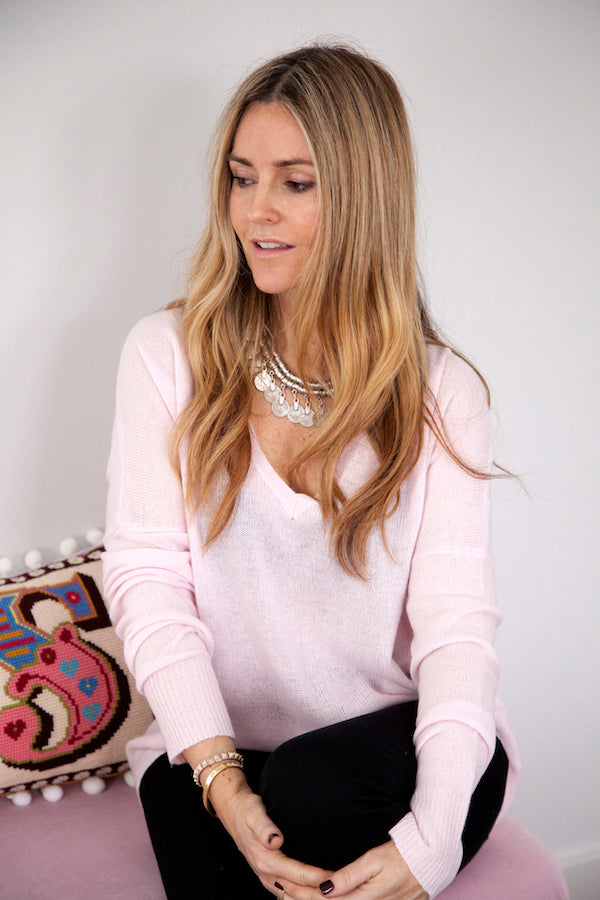 Donna Ida Thornton wearing Lauren Cashmere Jumper in Strawberry IMG_2054ss