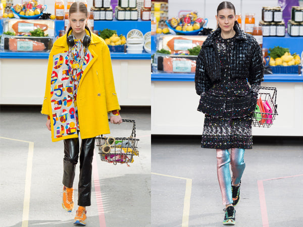 Chanel AW14 Catwalk show in Paris - Supermarket Sweep