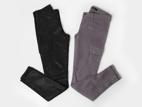 Exclusive to Donna Ida J Brand Ashton Cargo Skinny in Lacq Black and J Brand Grayson Cargo Skinny in Storm, donna ida, london fashion, london style, blogger fashion, blogger style, skinny jeans
