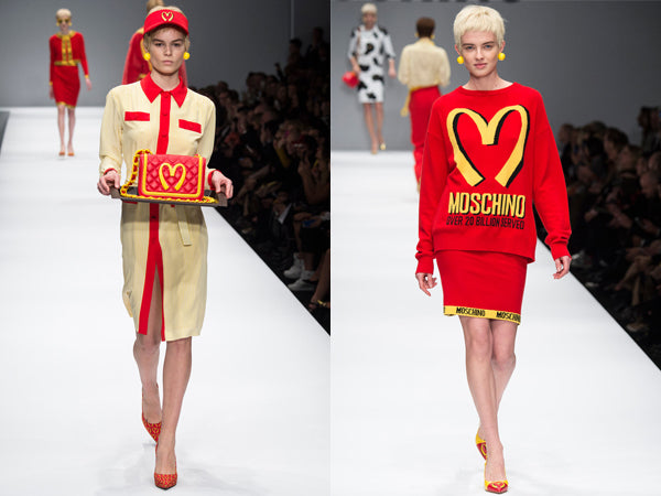 Moschino AW14 Show in Milan - MacDonalds references