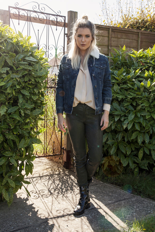 EVB wears Army Jacket DONNA IDA Cut Loose Shirt J Brand Leathers IMG_0093ss
