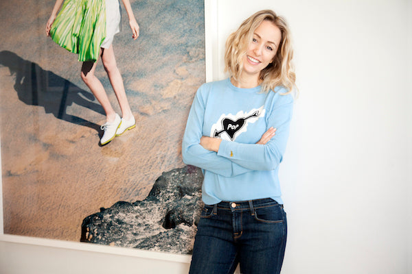 Fanny Moizant Vestiaire Collective wears Bella Freud jumper and J Brand jeans DONNA IDA 2