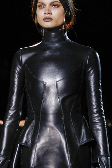 donna ida, london fashion, london style, leather, jumpsuit, polo neck