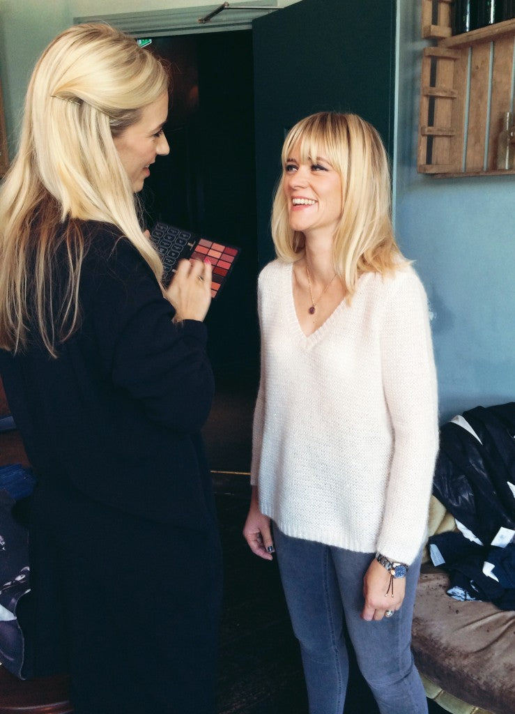 Bobbi Brown's Hannah Edwards with Edith Bowman