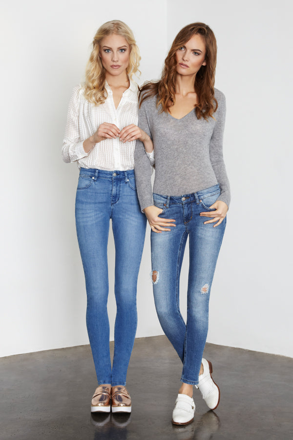 IDA Ivy the high-waist Skinny and Honor the low-rise Skinny Jeans