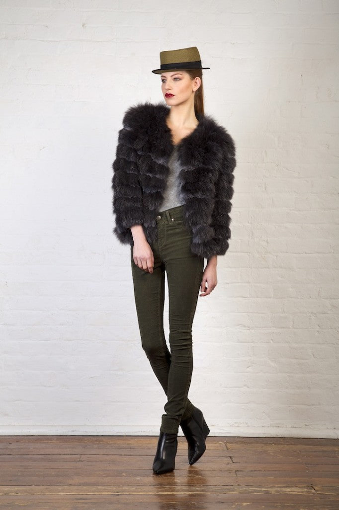 donna ida, london fashion, london style, fur jacket, hat, skinny jeans, shoes, model