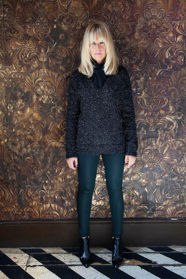 Edith Bowman, Mauro Grifoni Jumper, IDA Mrs Thatcher Blouse, J Brand Jeans, skinny jeans, denim, Donna Ida, fashion, London, outfit