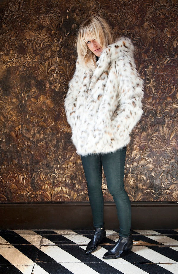 Edith Bowman, BLF Faux Fur Jacket, J Brand Jeans, denim, jeans, skinny jeans, Donna Ida, fashion, outfit