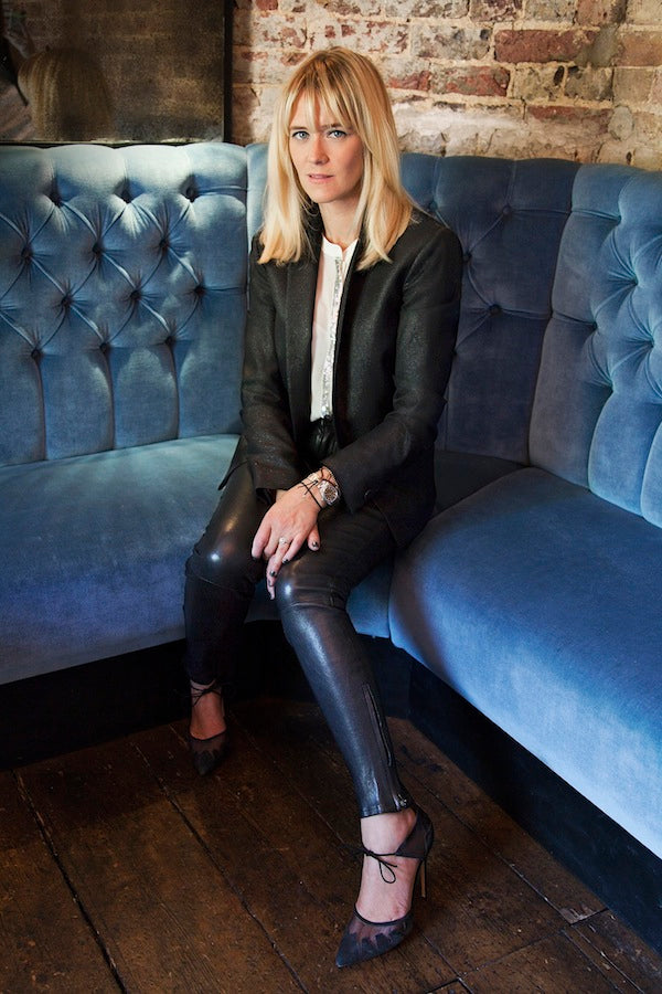 Edith Bowman, J Brand Leather Skinny Jeans, Pyrus London Blouse, Mauro Grifoni Jacket, Donna Ida, fashion, London, outfit