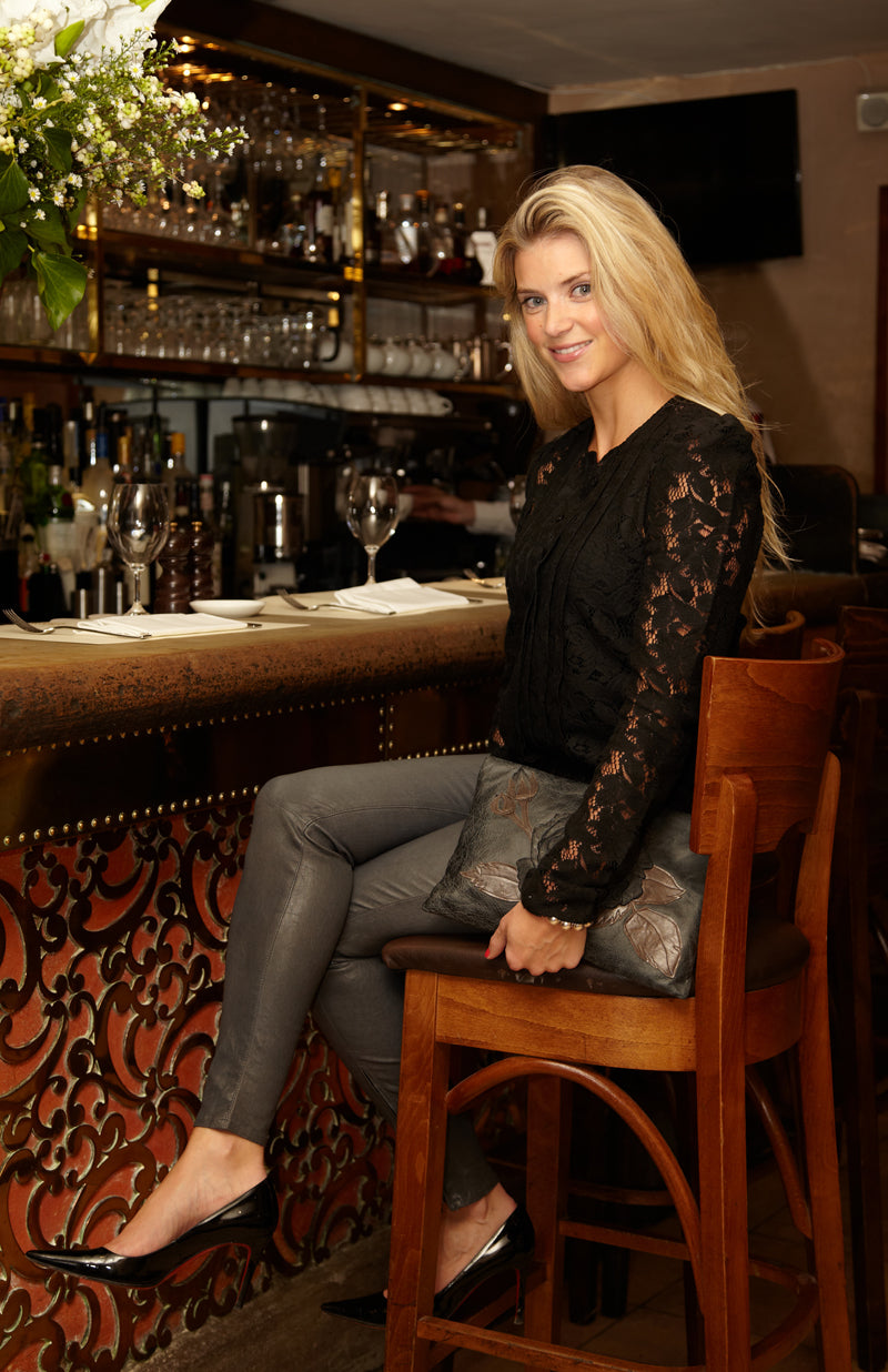 donna ida, london fashion, london style, chelsea boutique, alex, ida blouse, skinny jeans, leather jeans, clutch, drinks