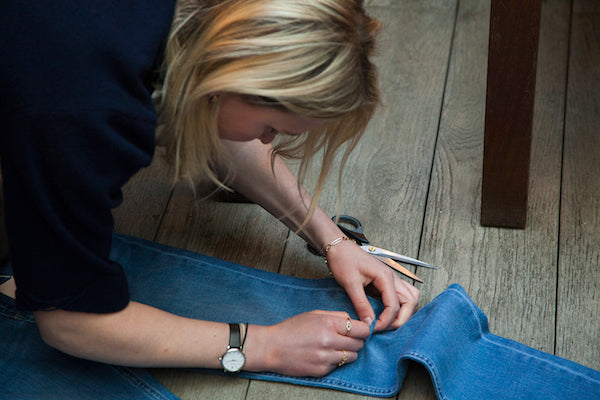 Donna Ida Denim Distressing Customisation 1