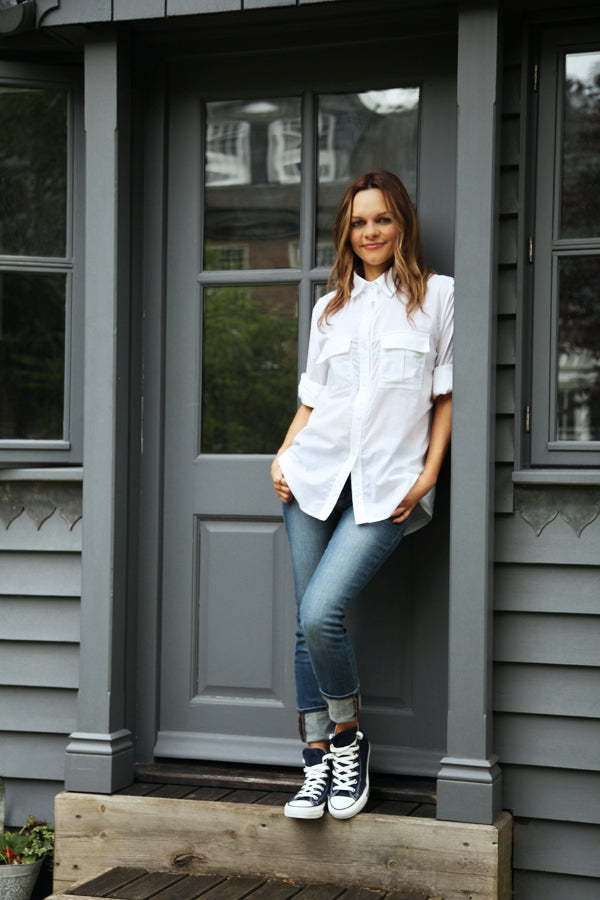 Maria Hatzistefanis,  J Brand 811 jeans in Infinity, skinny jeans, denim, Rebel Waite Shirt, Donna Ida, fashion