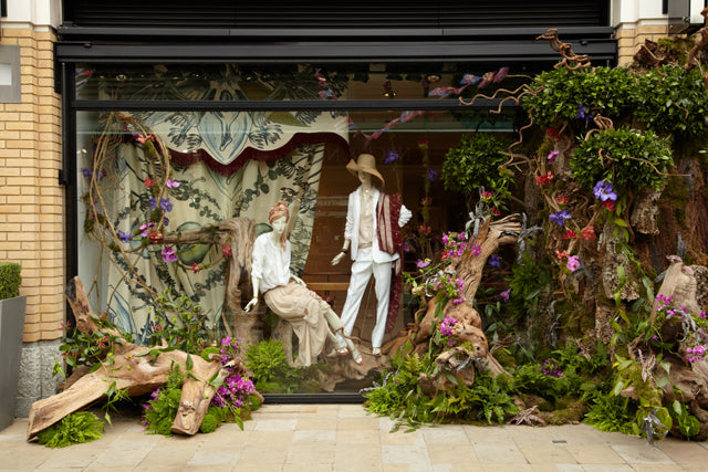 Window, chelsea flower show, boutique, donna ida, london fashion, london blog, london style