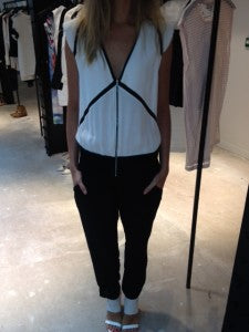 SS14 Trends Sport Luxe, donna ida, london fashion, london style, iro jumpsuit, monochrome, white and black panels