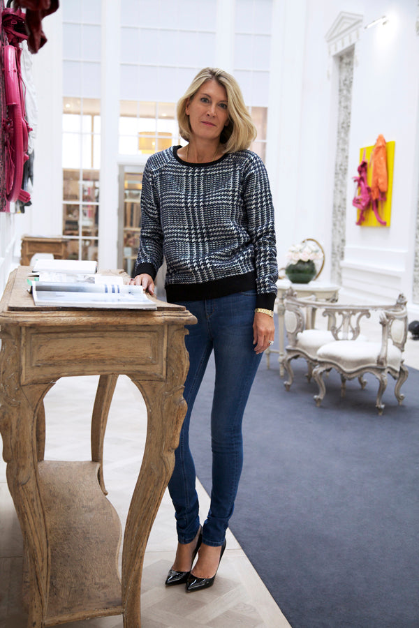 Kate Percival, The Textile Rebels jumper, IDA jeans, skinny jeans, blue jeans, denim, Donna Ida, fashion, London, outfit