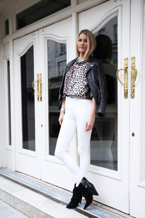 Kinvara Balfour, the Electric, Notting Hill, La Prestic Ouiston, IDA Rizzo Skinny Jeans in Milk, white jeans, denim, skinny jeans, Donna Ida, fashion