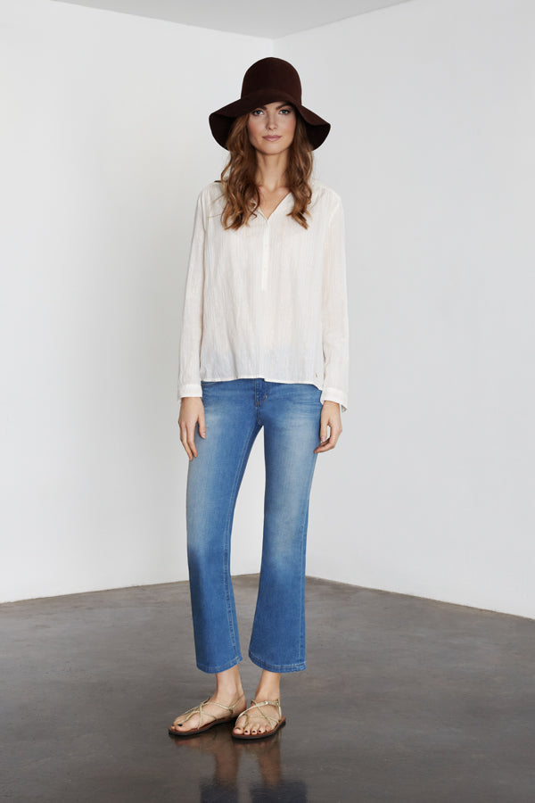 IDA Kitty Urban Cashmere, Des Petits Hauts, DPH Neve, Donna Ida, denim, flare jeans, ankle swinging, blue jeans, spring summer, 2015, fashion, outfit, London