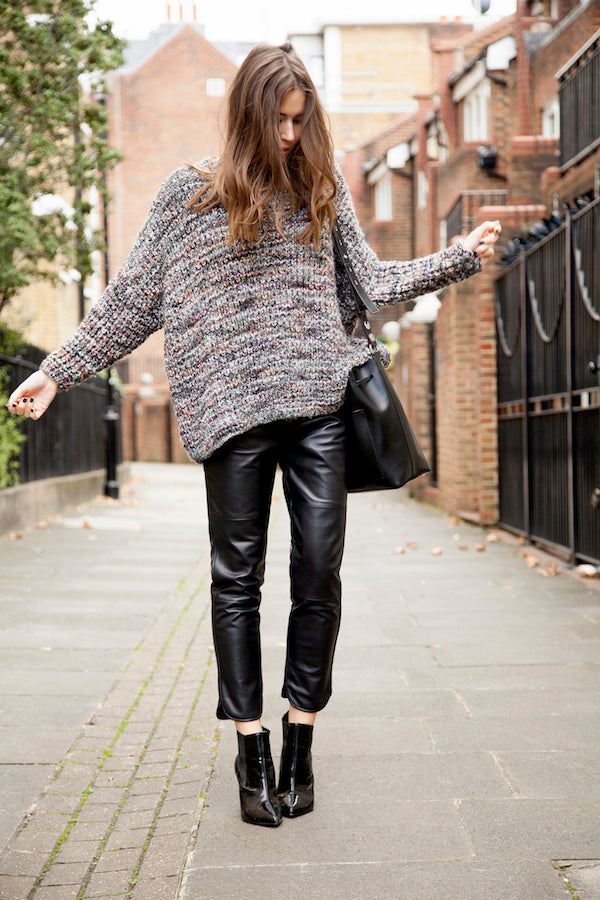 Lisa Haynes wears IDA Ginger Leather Pants and Rabens Saloner Sweater IMG_1228ss