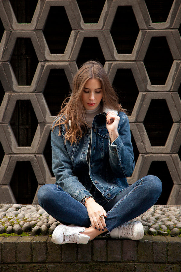 Lisa Haynes wears J Brand Jeans ARMY Denim Jacket DONNA IDA Hepburn Roll IMG_1548ss