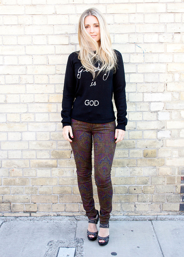 Donna Ida Thornton, Donna Ida, Bella Freud, Ginsberg is God' jumper, fashion, London, outfit