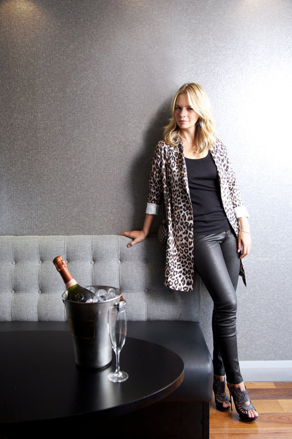 Marissa Hermer, J Brand Leather Leggings, Splendid Vest, La Prestic Ouiston Jacket, Donna Ida, fashion