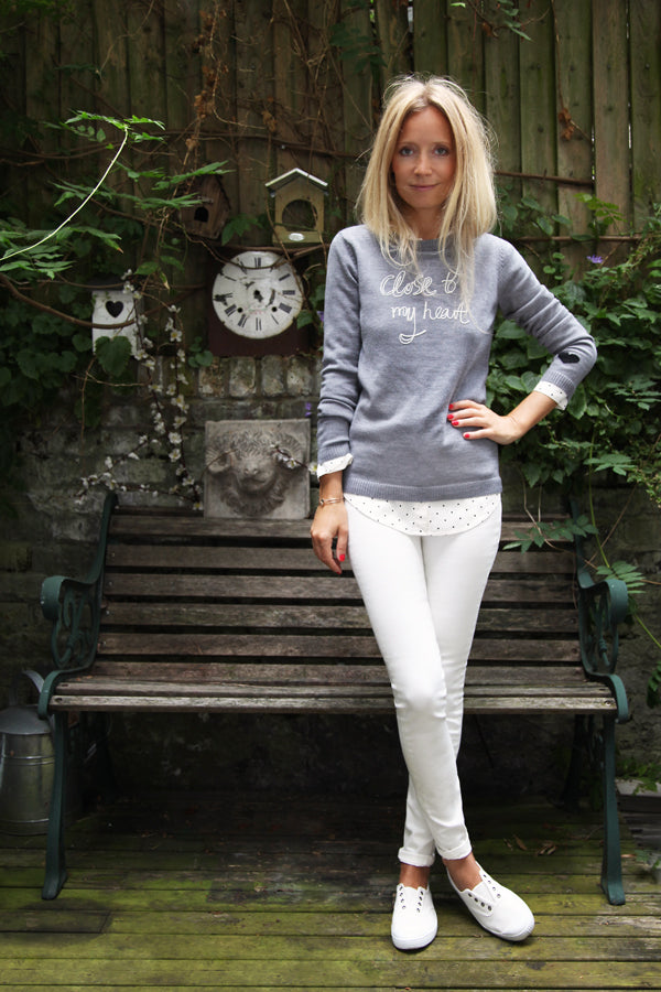 Martha Ward, MarthaMagpie.com, Bella Freud Jumper, IDA Rizzo in Milk, white jeans, skinny jeans, Donna Ida, fashion