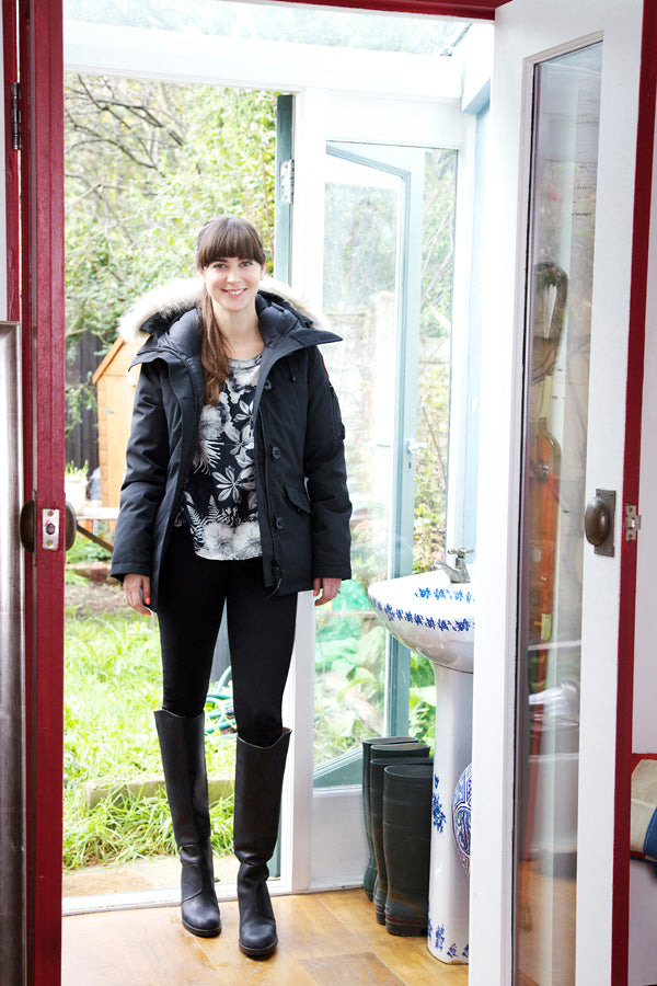 Misty Cudehy, Donna Ida, Style Insider, Pyrus Top, Canada Goose Coat, IDA Mabel Jeans, black jeans, skinny jeans, black coat, winter coat, fashion, London, outfit