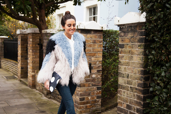Nini from Phoenix Magazine wears J Brand jeans RAVN coat DONNA IDA miss maggie blouse