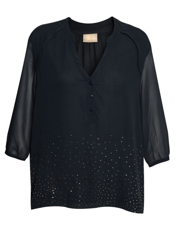 donna ida, london fashion, london style, pyrus clemence blouse, petrol, long sleeve, button