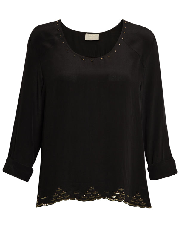 donna ida, london fashion, london style, pyrus starla blouse, black top, detail