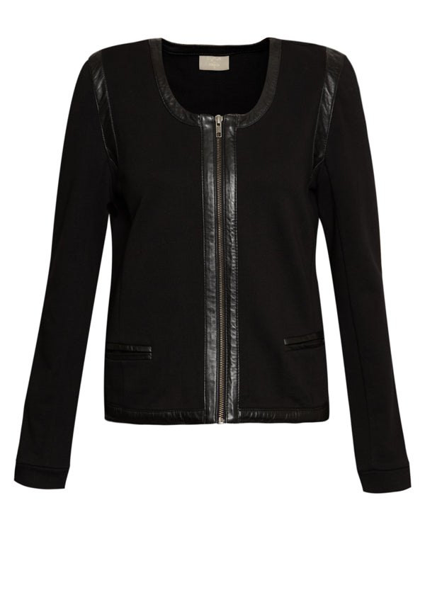 donna ida, london fashion, london style, pyrus vendome jacket, black jacket, detail, zips, leather