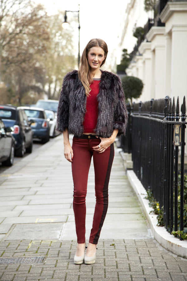 donna ida, seeing red, red denim, red jeans, red trend, london fashion, london style, street style, street fashion, blogger style, blogger fashion,