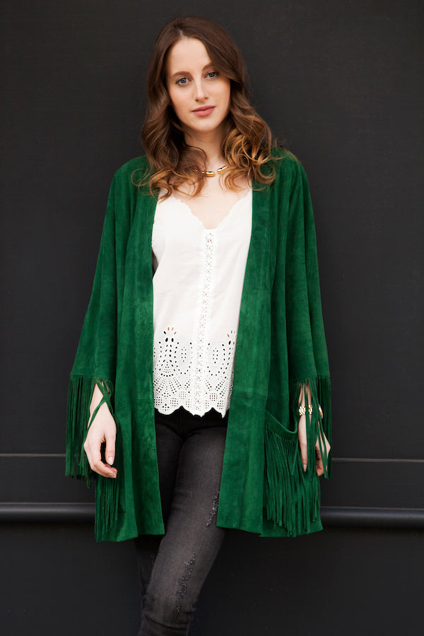 Rosie Fortescue wears IDA Jeans Paige Vest and ENES Jacket from DONNA IDA IMG_7142ss