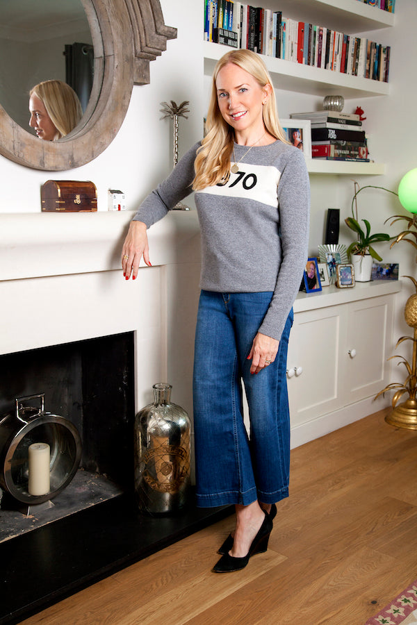 Rosie Nixon wears IDA Margot culottes and Bella Freud 1970 jumper IMG_8808ss