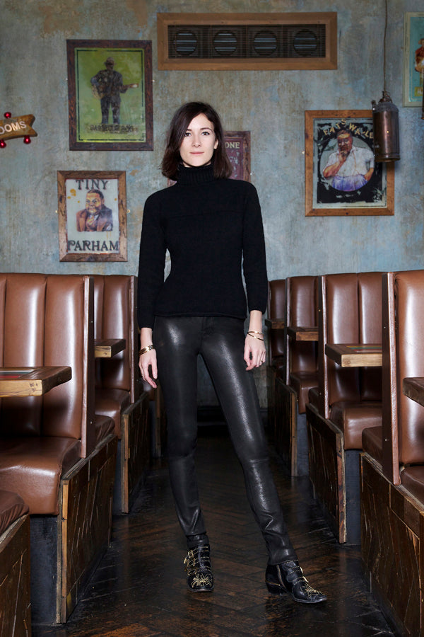Sarah Solemami, Donna Ida, Style Insider, J Brand Leather Leggings, black leggings, fashion, London, outfit