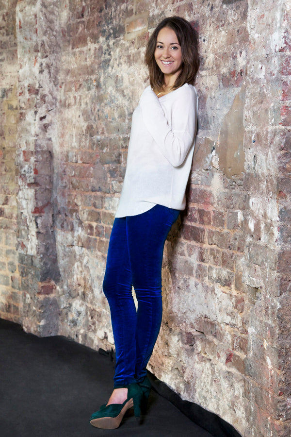 Susannah Fielding,  360 Sweater, jumper, J Brand Velvet Jeans, denim, blue, Donna Ida, fashion, outfit