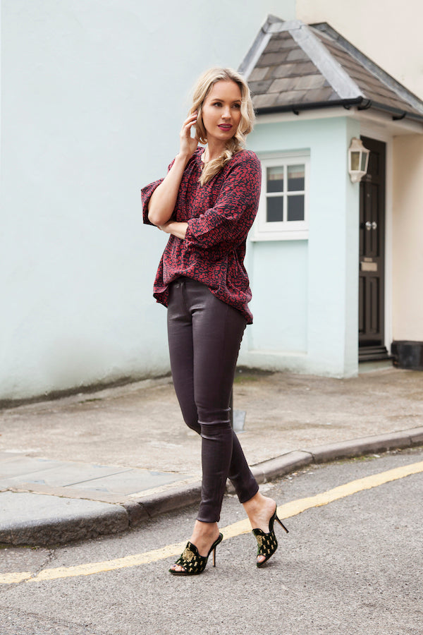 Tess Montgomery Joie Blouse and J Brand Leather Jeans IMG_1110ss