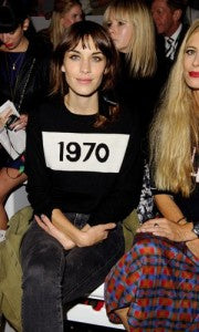 Alexa Chung in Bella Freud 1970 Jumper at Fashion Week, Donna Ida, fashion