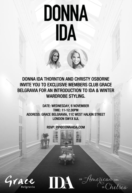 donna ida, london fashion, london style, Donna Ida Thornton and Christy Osborne at the Chelsea boutique