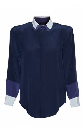 donna ida, london fashion, london style, band of outsiders, double collar, shirt, blouse